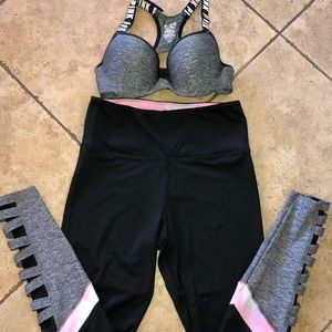 Ultimate VS Pink Bra and Legging Set